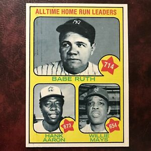 1973 Topps Set BABE RUTH HANK AARON WILLIE MAYS #1 YANKEES BRAVES GIANTS NR-MINT