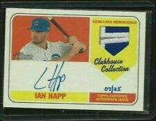 Ian Happ 2018 Topps Heritage Auto Patch #d /25 Clubhouse Collection Chicago Cubs