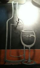 BACKER WINE AND GLASS SCULPTURED METAL WALL ART!   BB990QXX