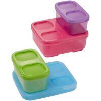 Rubbermaid Lunch Blox Kid's Kit's (Purple/Pink/Green)