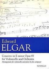Edward Elgar: Concerto for Cello and Orchestra in E Minor Op.85 (Cello/Piano)NEW