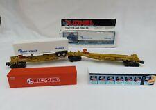LIONEL TTUX #16346 & #16345 PLUS 4 CONTAINERS & 2 TRUCK TRAILER FRAMES  EX.