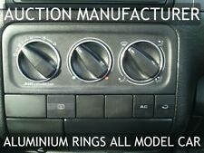 VW Polo 6N 1993-1997 Chrome Heater Rings Polished Alloy Trim Surrounds x3
