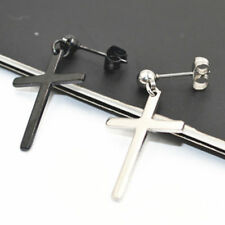LOT50pcs Punk Women/Men Earring Ear Stud /Earring Stainless Steel Sliver/Black