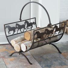 Horse Silhouette Firewood Basket