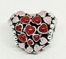 Authentic Pandora BURST OF LOVE CHARM W/ Pandora TAG & HINGED BOX #796557ENMX