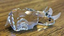 Swarovski Crystal Small Rhino / Rhinoceros Figurine, Mint, Box, Logo, Coa