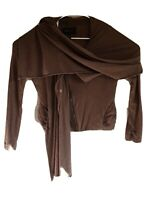 BCBG Max Azria  Draper Front Mocha Jacket Size M