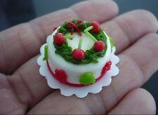 Christmas Cake Dollhouse Miniature Food Bakery Holiday X'mas -11