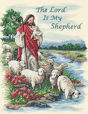 Cross Stitch Kit ~ Dimensions The Lord Is My Shepherd Jesus & Lambs #3222