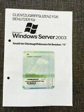 Windows 2003 Server 5er Client Zusatz Lizenz, user, OEM mit MwSt-Rechnung