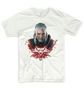 Witcher T Shirt Geralt Rivia Yennefer Ciri Toss A Coin White Wolf