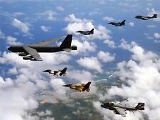 Aereo Militare piano B-52 Stratofortress Giappone F-2 Fighter Jet poster stampa bb937a