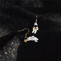 Women ute Space Star Asymmetrical Astronaut Drop Dangle Earrings Jewelry SALE