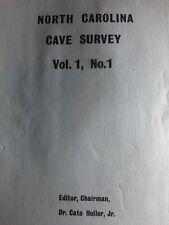 New listing North Carolina Cave Survey Vol. 1 No. 1