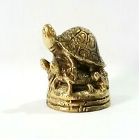 Brass Longevity Handmade Tortoise Turtle Statue Figurine Lucky Gift Collectible