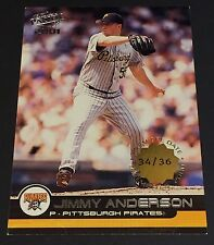 JIMMY ANDERSON 2001 Pacific PREMIERE DATE Parallel SSP  #329  Ser #d /36 PIRATES