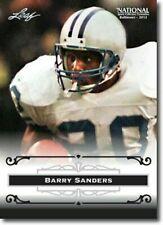 "BARRY SANDERS 2012 LEAF ""EXCLUSIVE"" COLLECTORS HALL OF FAME PROMO CARD! LEGEND!"
