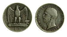 pcc2026_3) Vittorio Emanuele III (1900-1943)  5 Lire aquilino 1926