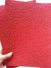 Handmade Natural Mulberry Paper 20 Sheets A4 210 x-297 mm Card Craft Art Red