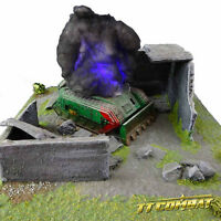 TTCombat - 2 x Flashing Wreck Markers Blue Plasma - Great for 40k & Warmachine