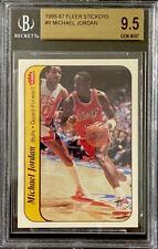 Bgs 9.5 Gem Mint Michael Jordan 1986 Fleer Rookie Sticker Highest 1/1 Old Label