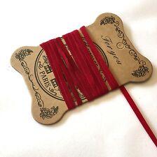 10 metres red velvet feel 4mm cord for jewellery making
