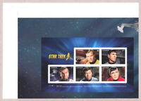 STAR TREK = Pos.1 = Souvenir Sheet = cut from UNCUT press sheet MNH Canada 2016