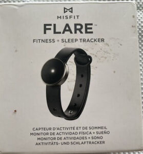 Misfit Flare Fitness and Sleep Tracker Graphite Black Sport Band