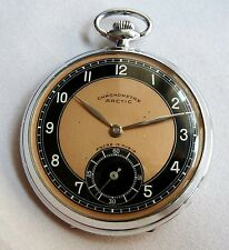 1930-40 's Arctic Chronometre Pocket Watch Swiss , 15 Rubis,Unique
