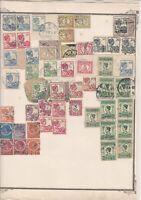 netherlands indies stamps on album page  ref 13535