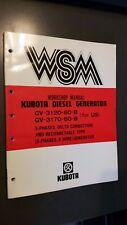 Kubota GV-3120 GV-3170 Diesel Generator Service Repair Manual