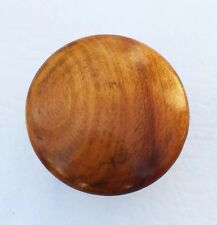 "Antique Wood Drawer Knob Hardware Pull Maple Knob  Mushroom  1 3/4"" diameter"
