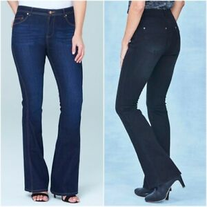 Simply Be Ladies Women Eve Bootcut Stretch Denim Mid Rise Jeans Size 10 12 14 28