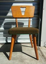 Vintage 1950's Mid Century Modern Plywood Chair Retro Atomic Eames Era Space Age