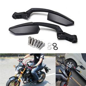 Black Motorcycle Rearview Mirrors For Honda VTX1800S VTX1300S / Shadow VLX 600 W