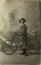 PHOTO ANCIENNE - CARTE PHOTO - CPA - VÉLO CYCLISTE BICYCLETTE - BIKE BICYCLE 2