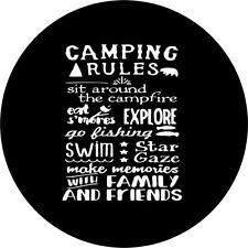 Camping rules Spare Tire Cover Any Size, Any Vehicle, trailer, Camper, Rv