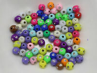 1000 Mixed Colour Sparkling Silver Dots Acrylic Round Beads 5mm Spacer