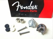 Genuine USA Fender Schaller Guitar Straplock Strap Lock CHROME Set Pair of 2