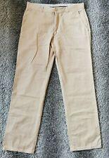 Mens Jaeger Berwick Beige Trousers Premium 100% Cotton Chinos W 36/34 Regular