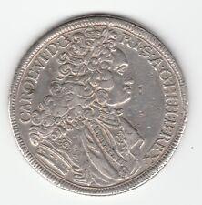 Austria Silesia 1 Thaler 1718 Breslau CHARLES / Karl VI XF KM 18/801.3