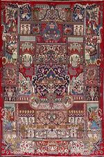 Vintage Dynasty Historical Kashmar Hand-Made Area Rug Dining Room Carpet 10'x12'