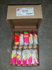 "Lot Maco 4 Color Neon Strung Merchandise Tags #5 1-3/32"" x 3/4"" Bb-304 Bb304"