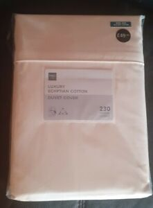 BRAND NEW luxury Egyptian Cotton King Size Quilt Cover Cream. M&S