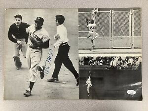 Willie Mays Signed Photo 10x15 Autograph Baseball The Catch Mets Giants HOF JSA