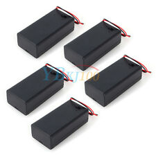 5pcs 9V Volt Battery Holder Box Case DC with Wire Lead ON/OFF Switch Cover MP