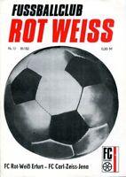 Programmheft, FC Rot-Weiß Erfurt - FC Carl Zeiss Jena 1982 /47