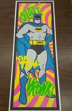 Batman day glow fluorescent poster.  Vintage TV style Adam West black light Pow!