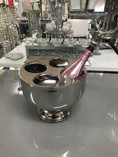 4 bottle chrome metal champagne bottle holder
